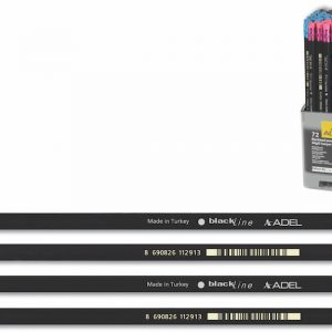 Crayons Graphite Natural avec gomme Adel