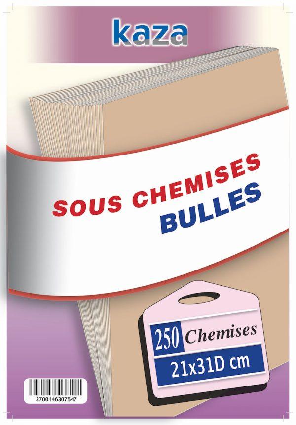 Sous Chemise Bulle X250 PCS 21*31Cm 2eme Choix KAZA